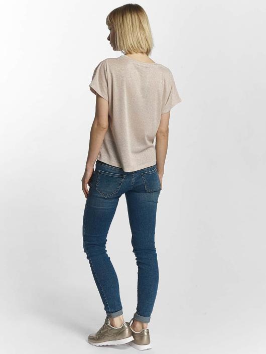 Only T-shirt onlSilvery Disco rosa chiaro