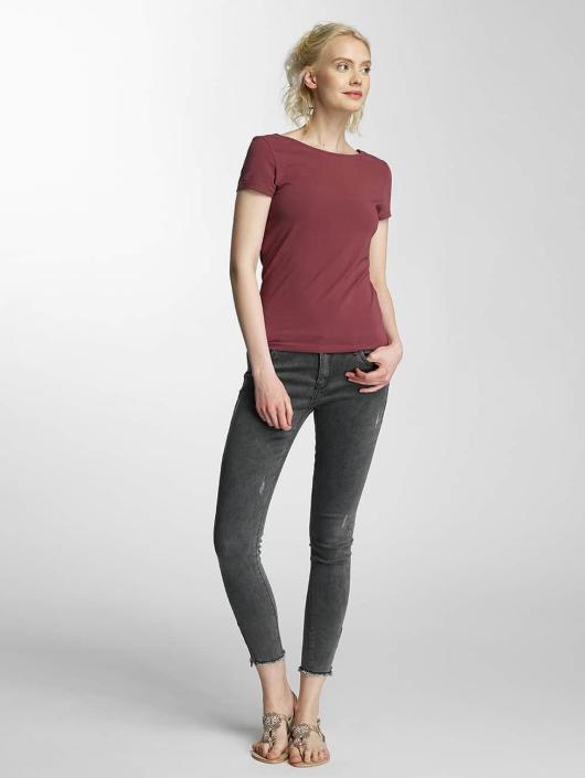 Only T-Shirt onlLive Love Lace Up rot