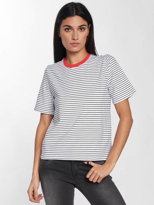 Only T-Shirty onlLive Love Trendy Stripe bialy