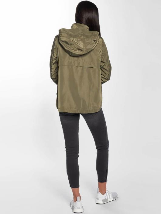 Only Transitional Jackets onlLina Nylon Parka khaki