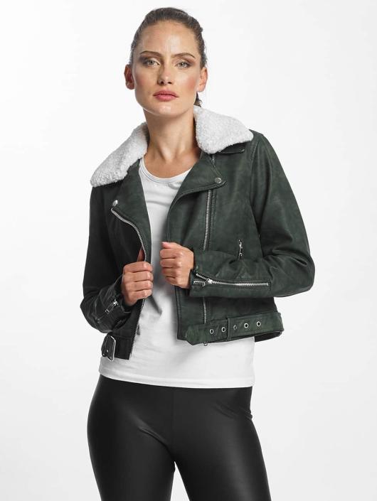 amp; Vert Veste Leather Femme En Biker Faux Onldanielle Only Blouson xw1qnF0IYH
