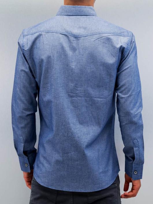Open Chemise Breast Pocket bleu
