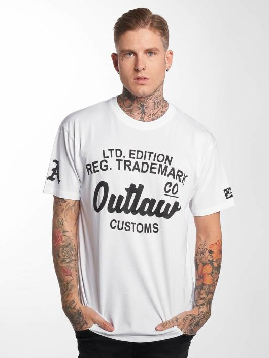 Outlaw T-Shirt Outlaw Customs white