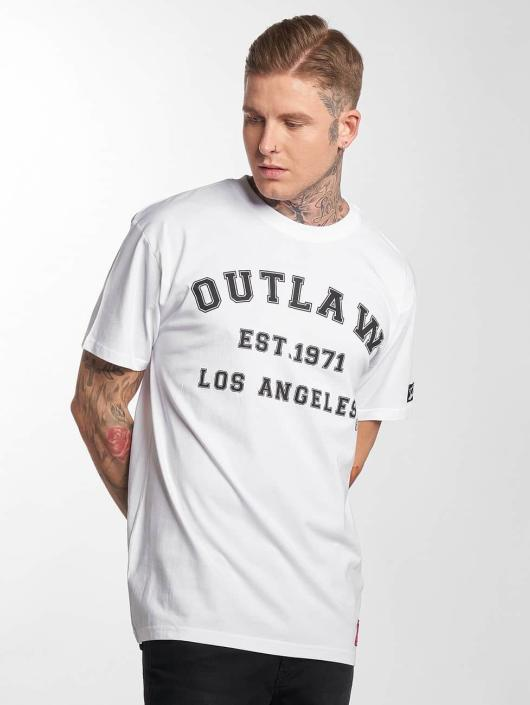 Outlaw T-shirts Outlaw Baseball hvid