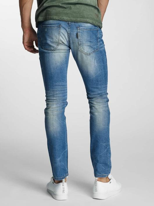Paris Premium Straight Fit Jeans Dirt blau