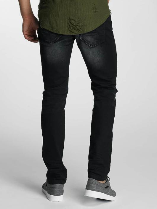 Paris Premium Straight Fit Jeans Used schwarz