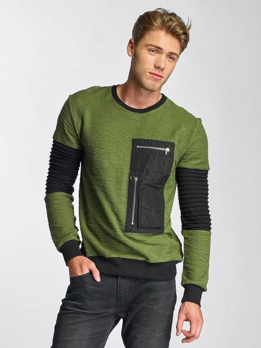 Paris Premium Swetry Pocket oliwkowy