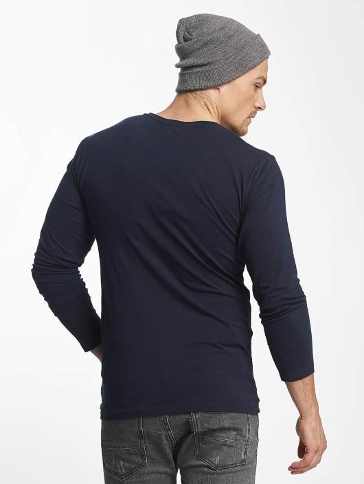 Paris Premium T-Shirt manches longues Basic bleu