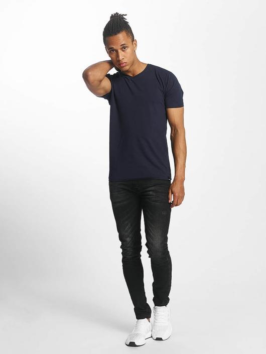 Paris Premium T-shirts Basic blå