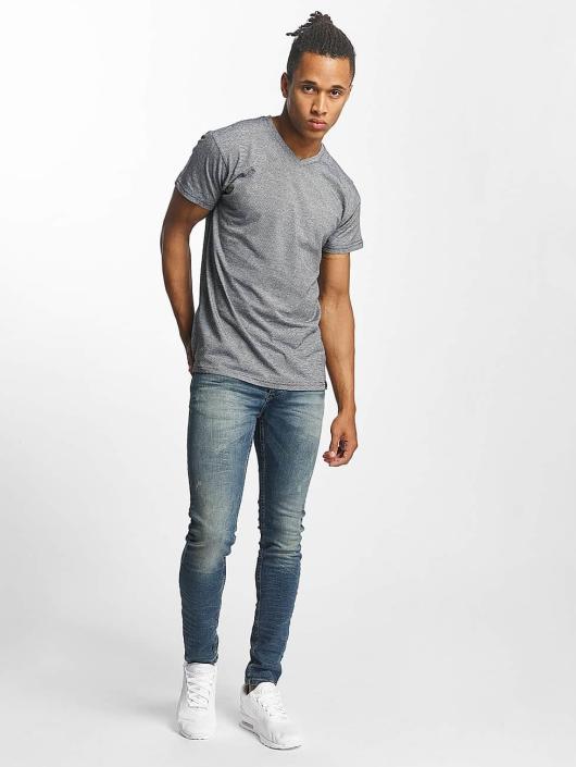 Paris Premium T-shirts Stripe grå
