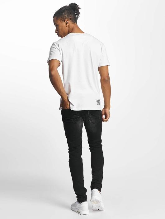 Paris Premium T-shirts Rockin' Skull hvid