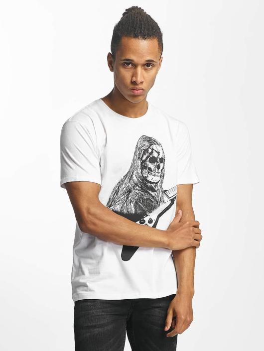 Paris Premium T-skjorter Rockin' Skull hvit