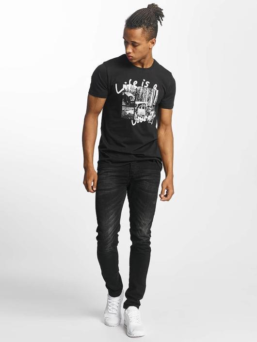 Paris Premium T-skjorter Life is a Journey svart