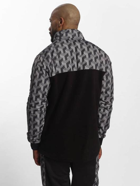 Blockparty Noir Mockneck Homme Pelle Sweatamp; 407173 Pull F1clJ5uKT3