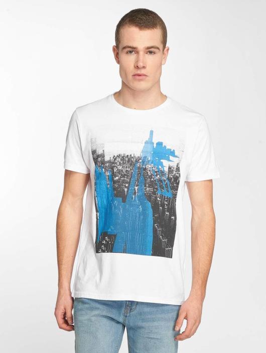 Petrol Industries Camiseta Manhatten blanco