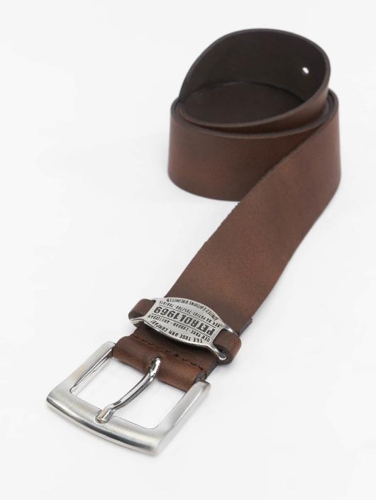 Petrol Industries Paski Leather brazowy