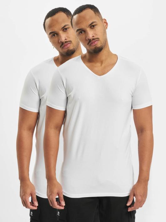 Petrol Industries T-Shirt Bodyfit Basic 2 Pack weiß