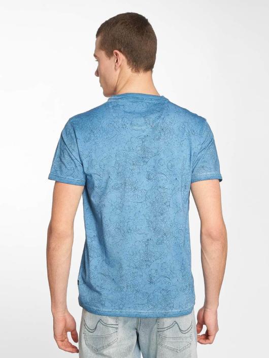 Petrol Industries T-Shirty Waterfall niebieski