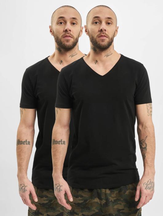 Petrol Industries T-skjorter Bodyfit Basic 2 Pack svart