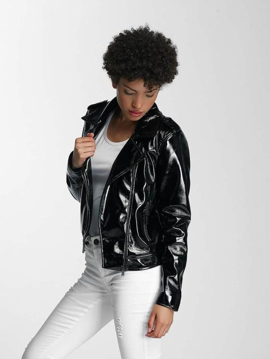 Pieces Leather Jacket pcEkim black
