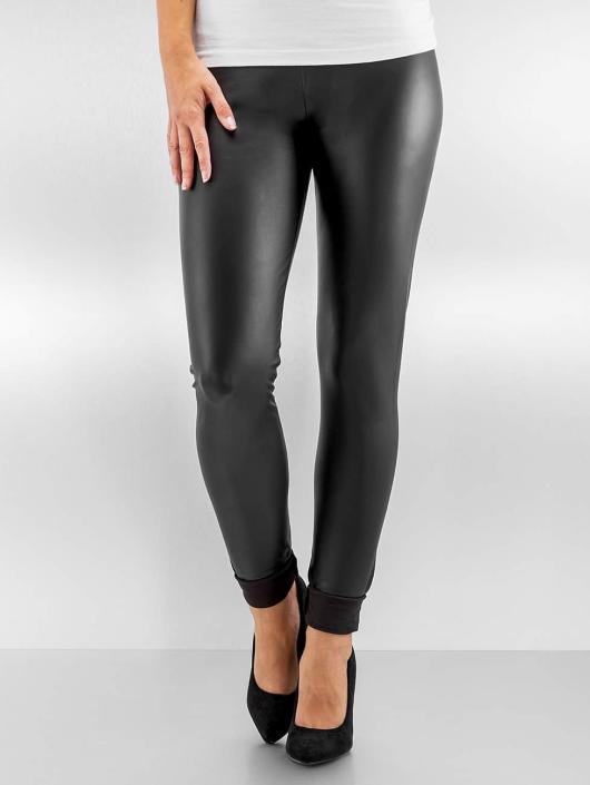 28d0470733dccf Pieces Damen Legging pcNew Shiny in schwarz 276526