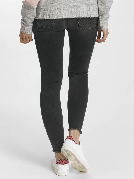 Pieces Skinny Jeans pcFive Delly grau
