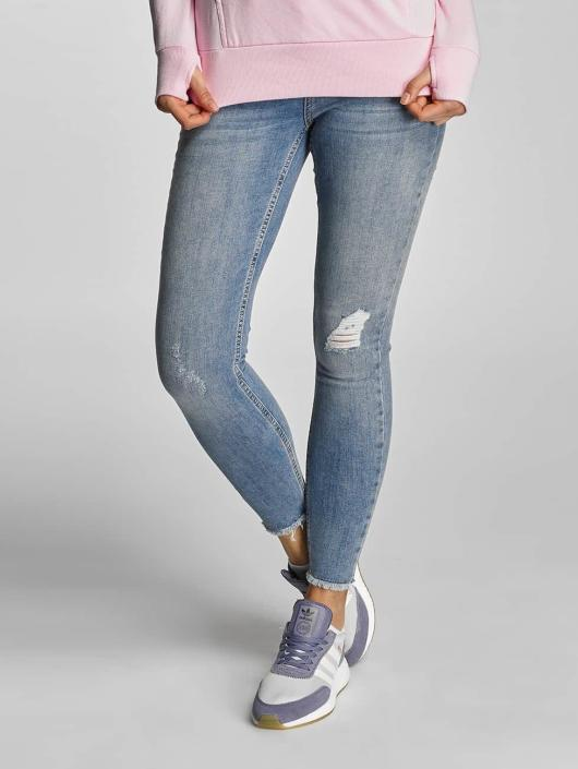 Pieces Skinny Jeans PCJust New Delly Cropped modrý