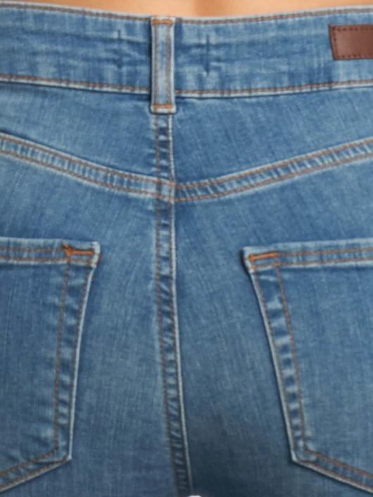 Pieces Skinny Jeans pcFive Delly modrý