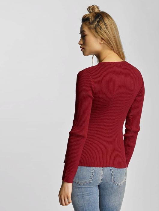pieces pcvesla rouge femme sweat pull 315164. Black Bedroom Furniture Sets. Home Design Ideas