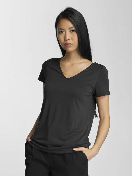 Pieces T-Shirt pcSiw V-Neck schwarz