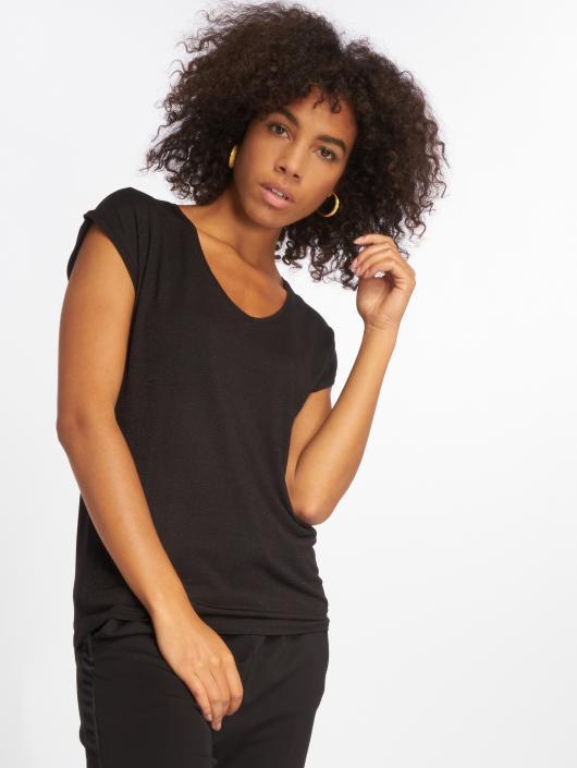 Pieces T-Shirty pcBillo Lurex Stripes czarny