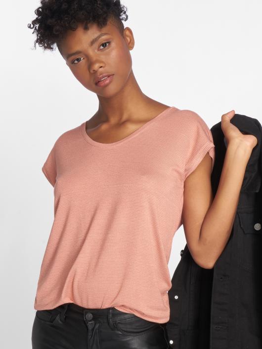 Pieces T-Shirty pcBillo Lurex Stripes rózowy