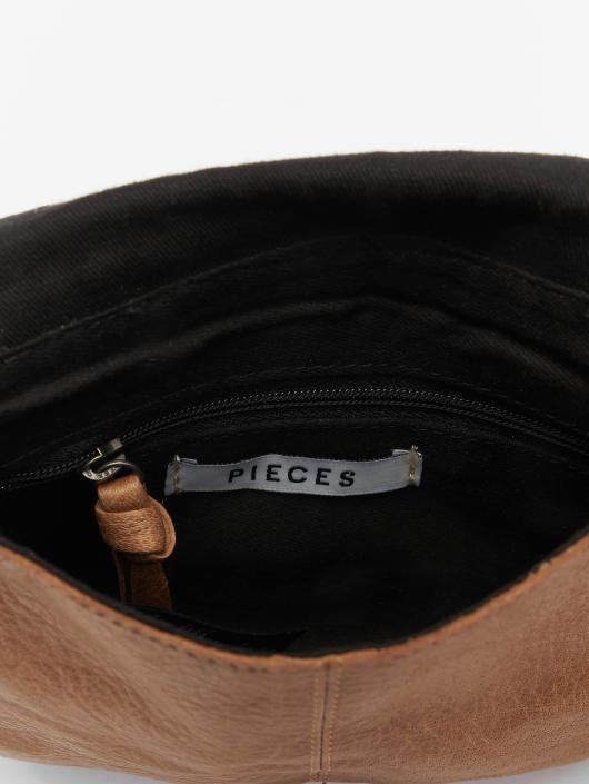 Pieces Vesker pcAbby Leather Party brun