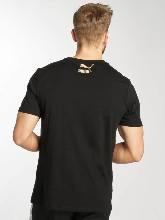 Puma T-Shirt Suede schwarz