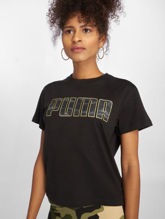 Puma T-Shirt Camo schwarz