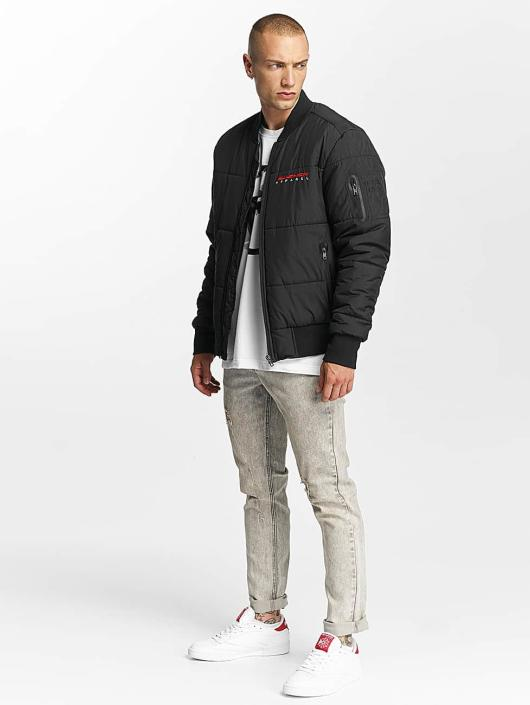 Pusher Apparel Pilotjakke Quilted Bomber svart