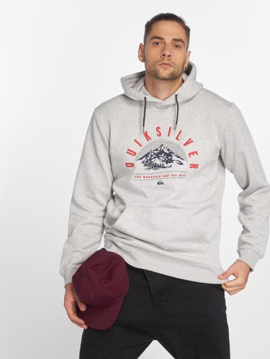 Quiksilver Sweat capuche Big Logo Snow gris