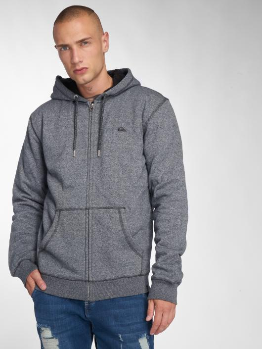 Quiksilver Sweat capuche zippé Everyday Sherpa gris