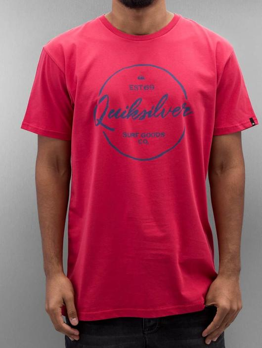 Quiksilver T-Shirt Silvered Classic red