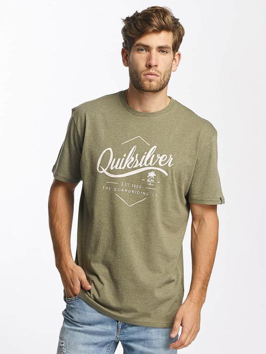 Quiksilver T-Shirty Classic Sea Tales oliwkowy