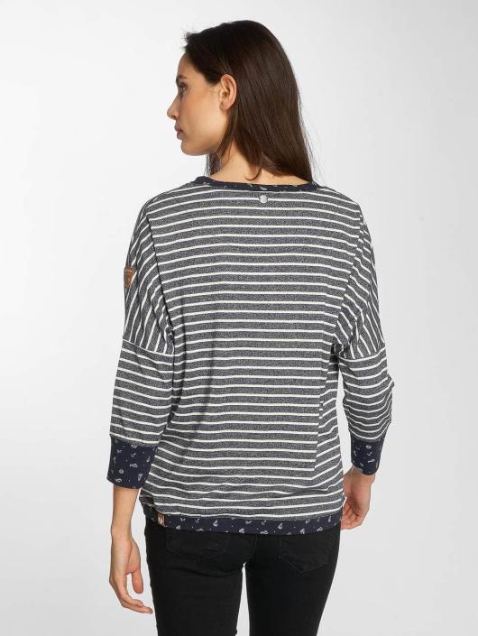 Ragwear T-Shirt manches longues Blanche bleu