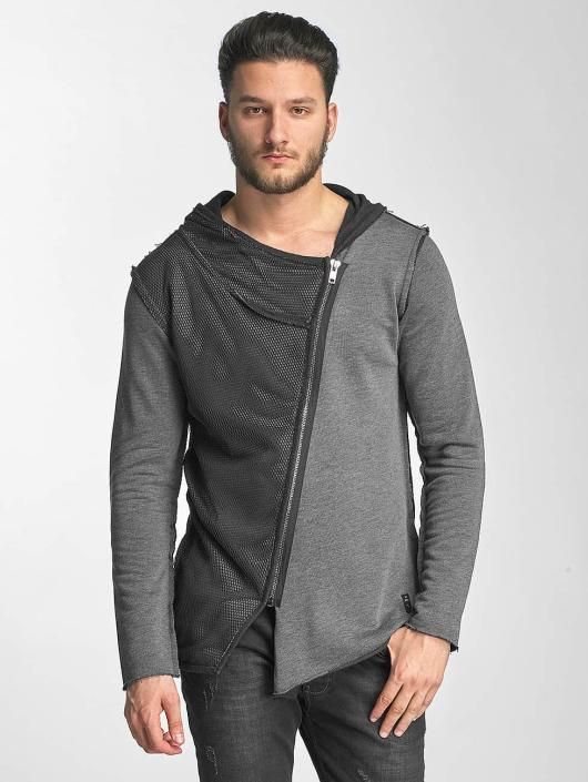 Red Bridge Cardigan Asymmetrical Mesh gray