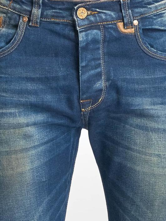 Red Bridge Slim Fit Jeans Washed blå
