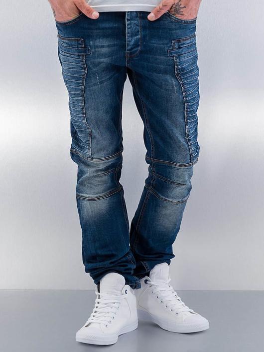 Red Bridge Straight Fit Jeans Quited II blau