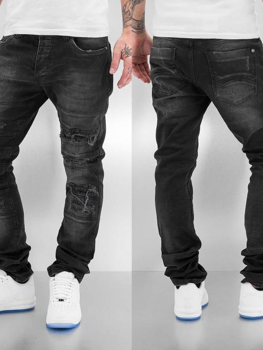 Red Bridge Straight Fit Jeans Destroyed schwarz