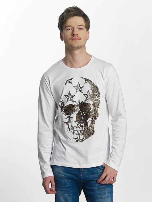Red Bridge T-Shirt manches longues Big Skull blanc