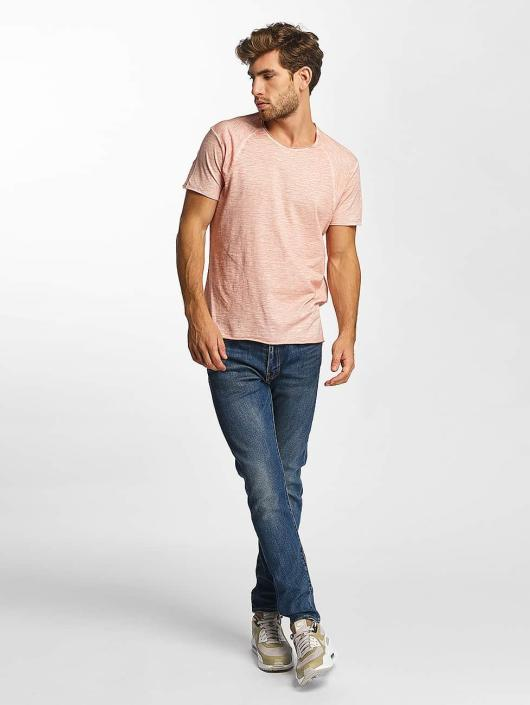 Red Bridge T-shirt Flamed Frame Vintage Used-Look rosa chiaro