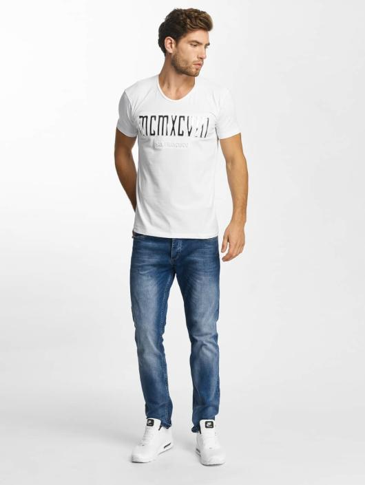 Red Bridge T-Shirt MCMXCIII Modern Characters white