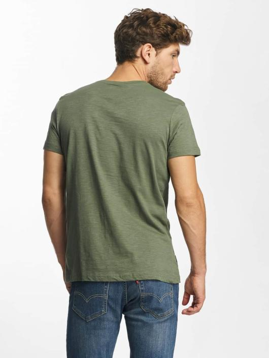 Red Bridge T-skjorter Stiched Skull khaki