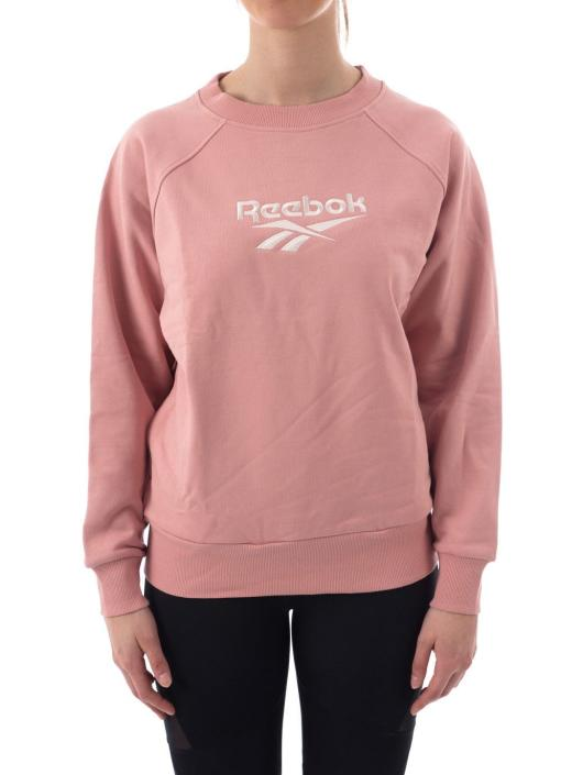 reebok femmes yoga cover up crew neck sweatshirt